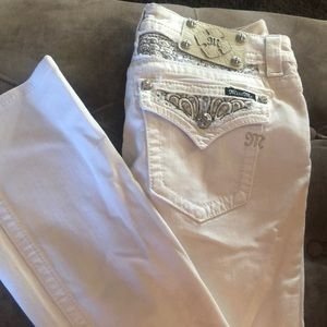 Miss Me white jeans with tags. Size 28, inseam 34